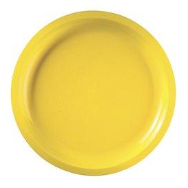"Plastic Plate Yellow ""Round"" PP Ø29 cm (25 Units)"