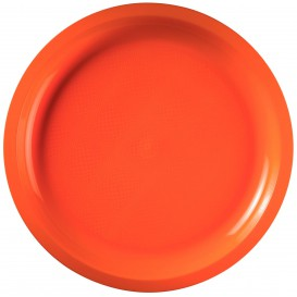 """Plastic Plate Orange """"Round"""" PP Ø29 cm (25 Units)"""