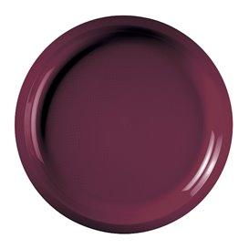 "Plastic Plate Burgundy ""Round"" PP Ø29 cm (300 Units)"