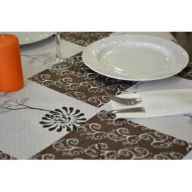 """Pre-Cut Paper Tablecloth """"m (400 Units) agnolia Nem (400 Units) a"""" 37g 1x1m (400 Units)"""