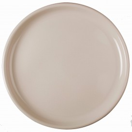 """Plastic Plate for Pizza Beige """"Round"""" PP Ø35 cm (144 Units)"""