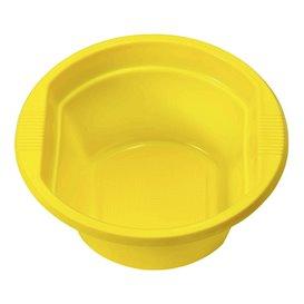 Plastic Bowl PS Yellow 250ml Ø12cm (30 Units)