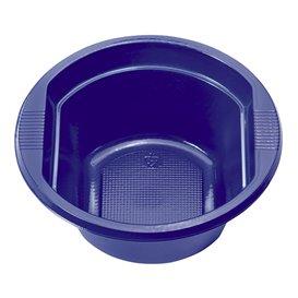 Plastic Bowl PS Dark Blue 250 ml Ø12cm (30 Units)
