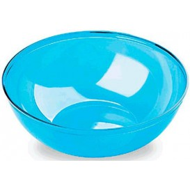 Plastic Bowl PS Crystal Hard Turquoise 3500ml Ø27cm (1 Unit)