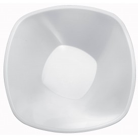 "Plastic Bowl PP White ""Square"" 3000ml Ø27,7cm (30 Units)"