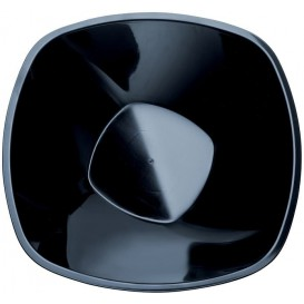 "Plastic Bowl PP Black ""Square"" 3000ml Ø27,7cm (3 Units)"