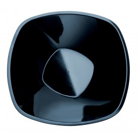 "Plastic Bowl PP ""Square"" Black 1250ml Ø21cm (3 Units)"