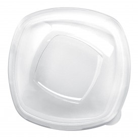 "Plastic Lid PET Crystal ""Square"" Ø21cm (60 Units)"