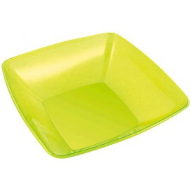 Plastic Bowl PS Crystal Hard Green 3500ml 28x28cm (1 Unit)