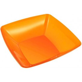 Plastic Bowl PS Crystal Hard Orange 3500ml 28x28cm (20 Units)