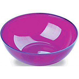 Plastic Bowl PS Crystal Hard Eggplant 3500ml Ø27cm (20 Units)