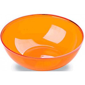Plastic Bowl PS Crystal Hard Orange 3500ml Ø27cm (1 Unit)