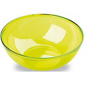Plastic Bowl PS Crystal Hard Green 3500ml Ø27cm (20 Units)
