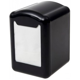 """Napkin Plastic Dispenser """"Miniservis"""" Black 17x17cm (12 Units)"""