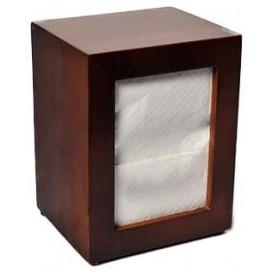 Napkin Wooden Dispenser 17x17cm (10 Units)