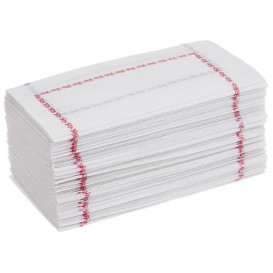 "Paper Napkin ""Zigzag"" Decorative Border White 14x14cm (300 Units)"