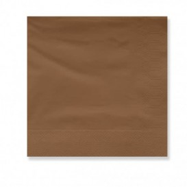 Paper Napkin Edging Brown 2 Layers 30x30cm (100 Units)