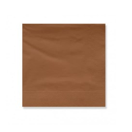 Paper Napkin Edging Brown 20x20 2C (100 Units)