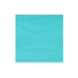 Paper Napkin Edging Turquoise 20x20cm 2C (100 Units)