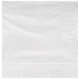 Paper Napkin Edging White 25x25cm 2C (200 Units)