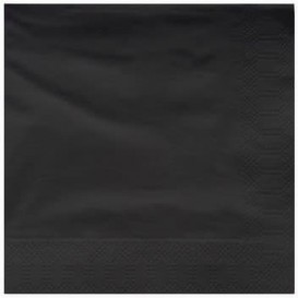 Paper Napkin Edging Black 25x25cm 2C (200 Units)