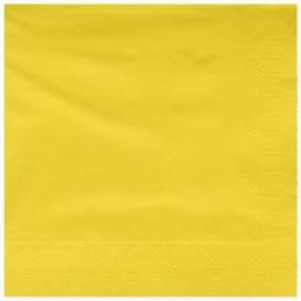 Paper Napkin Edging Yellow 25x25cm 2C (200 Units)