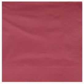 Paper Napkin Edging Burgundy 25x25cm 2C (200 Units)