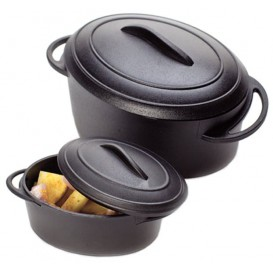 Serving Pot Tray with Lid PP Black 80ml (6 Units)