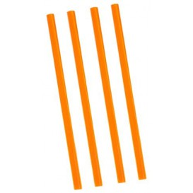 Plastic Straw for Frappé PS Straight Wrapped Ø0,8cm 22cm (500 Units)