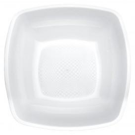 Plastic Plate Deep White Square shape PP 18 cm (300 Units)
