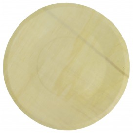 Wooden Plate Round Shape 21,5cm (50 Units)