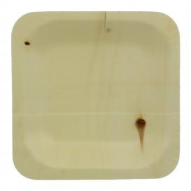 Wooden Plate Square Shape 11,5x11,5cm (50 Units)