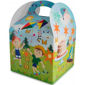 Paper Kids Meal Box Party 1,31x1,31x1,15cm (250 Units)