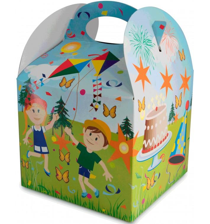 Paper Kids Meal Box Party 1,31x1,31x1,15cm (250 Units)