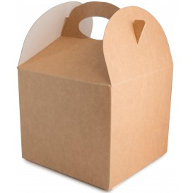 Paper Menu Box Kraft 1,31x1,31x1,15cm (250 Units)