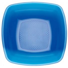 Plastic Plate Deep Blue Square shape PS 18 cm (25 Units)