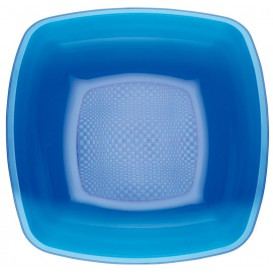 Plastic Plate Deep Blue Square shape PS 18 cm (300 Units)