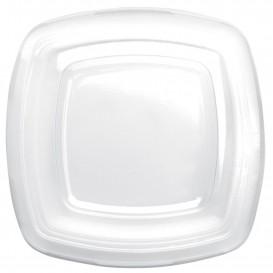 Plastic Lid Clear for Plate Square shape PET 18 cm (25 Units)