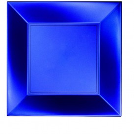 "Plastic Plate Flat Blue ""Nice"" Pearl PP 29 cm (144 Units)"