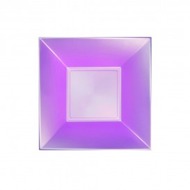 "Plastic Plate Deep Violet ""Nice"" Pearl PP 18 cm (25 Units)"