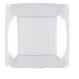 "Plastic Plate Flat Clear ""Nice"" PS 23 cm (300 Units)"