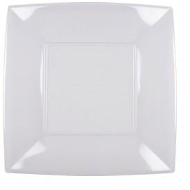 """Plastic Plate Flat Clear """"Nice"""" PS 29 cm (12 Units) (12 Units)"""
