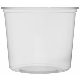Plastic Deli Container Clear PP 400ml Ø10,5cm (100 Units)