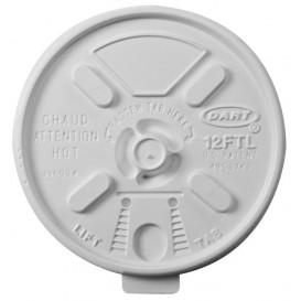 Plastic Lid PS Resealable White Ø8,9cm (100 Units)