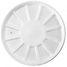 Foam Vented Lid White Ø11cm (50 Units)