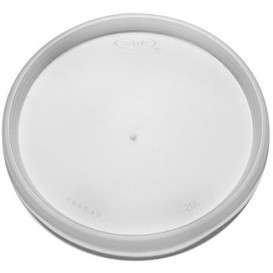 Plastic Lid PS Clear Flat for Foam Cup Ø11,7cm (100 Units)