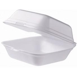 Foam Burger Boxes Take-Out Large size White (500 Units)