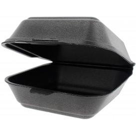 Foam Burger Boxes Take-Out Small size Black (125 Units)
