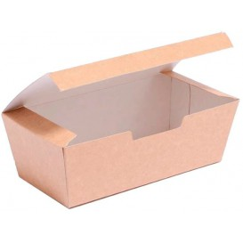 Paper Take-Out Box Kraft 16,5x7,5x6cm (25 Units)
