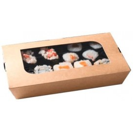 """Paper Take-out Container """"Premium"""" 21x13x3,5cm 730ml (300 Units)"""